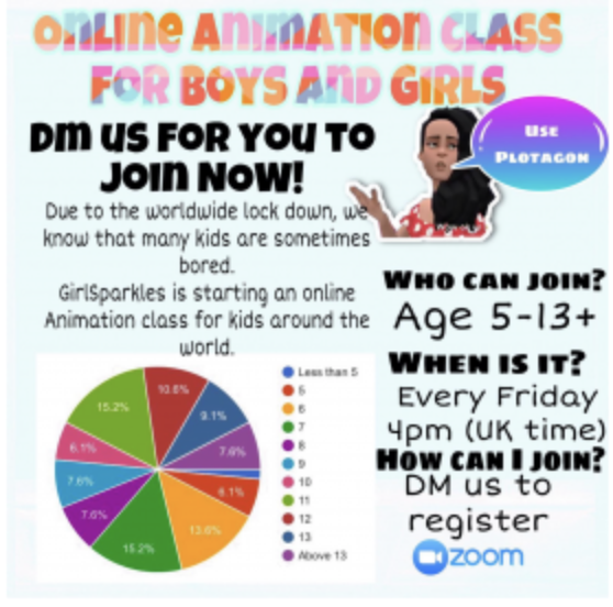 Online Animation Class for boys and girls